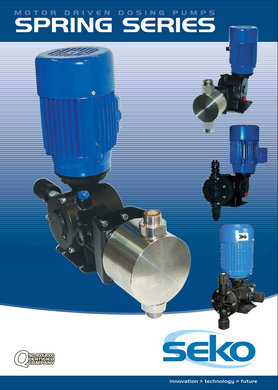 Seko geared motor metering pumps